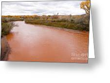 River Red New Mexico Greeting Card