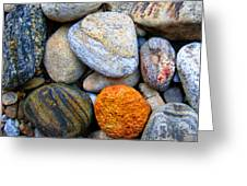 River Rocks 1 Greeting Card