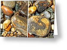 River Rocks 16 In Stereo Greeting Card