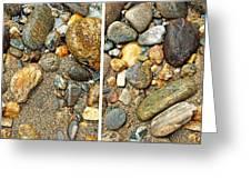 River Rocks 17 In Stereo Greeting Card