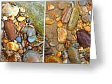 River Rocks 9 In Stereo Greeting Card