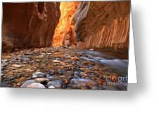 River Rocks In The Narrows Greeting Card