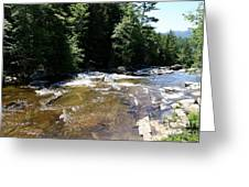 River Running Over Rocks Greeting Card