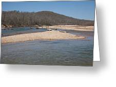 The Black River In Winter Greeting Card