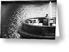 River Seat Greeting Card by John Rizzuto