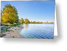 River Shore And Trees Greeting Card