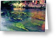 River Sile In Treviso Italy Greeting Card