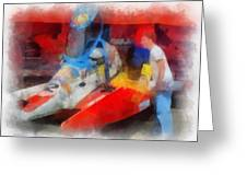 River Speed Boat Number 2 Photo Art Greeting Card