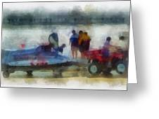 River Speed Boat Photo Art Greeting Card