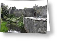 River Suir And Cahir Castle Greeting Card