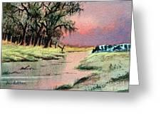 River Sunrise Greeting Card