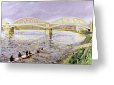 River Thames At Barnes Greeting Card by Sarah Butterfield