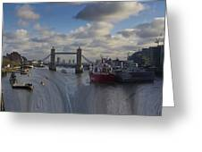 River Thames Waterfall Greeting Card