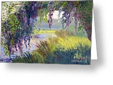 River Through The Moss Greeting Card by Patricia Huff