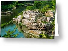 River Through The Rocks Greeting Card