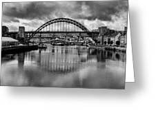 River Tyne Bridges Greeting Card
