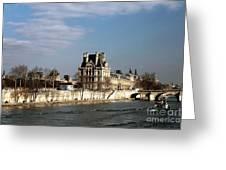 River View In Paris Greeting Card