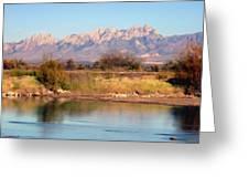 River View Mesilla Panorama Greeting Card