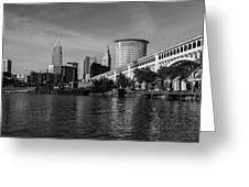 River View Of Cleveland Ohio Greeting Card