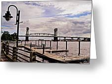 River Walk Wilmington Bridge Greeting Card
