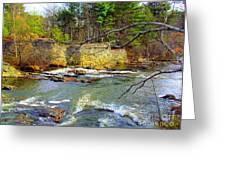 River Wall Greeting Card