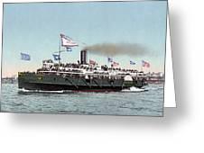 Riverboat, C1900 Greeting Card