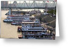Riverboat Row Greeting Card