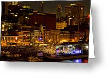 Riverfront Evening Concert Greeting Card
