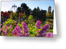 Riverfront Park Lilac Greeting Card by Dan Quam