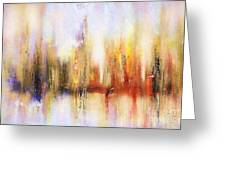 Riverfront Refraction Fine Art Painting Greeting Card