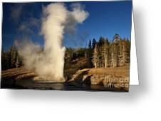 Riverside Geyser Eruption Greeting Card