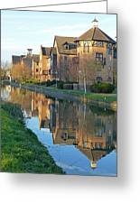 Riverside Home Reflections Vertical Greeting Card by Gill Billington