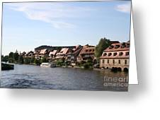 Riverside Of Bamberg - Germany Greeting Card