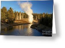Riverside Reflection Greeting Card
