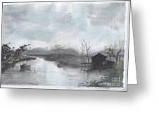 Riverside Scene Greeting Card