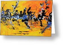 Riverside Sunset Greeting Card