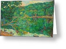 Riverview Reflections Greeting Card