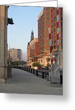 Riverwalk Bridge Crossing Greeting Card