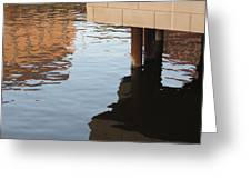 Riverwalk Low View Refections Greeting Card