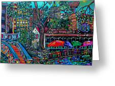 Riverwalk Greeting Card by Patti Schermerhorn