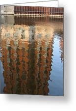 Riverwalk Reflection Greeting Card