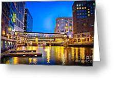 Riverwalk Shimmer Greeting Card