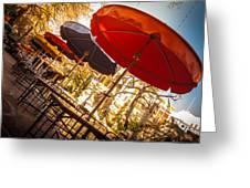 Riverwalk Umbrellas Greeting Card