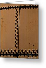 Riveted Plates   #1612 Greeting Card
