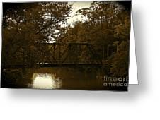 Riveting Bridge Greeting Card