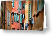Riviera Alley Greeting Card by Inge Johnsson
