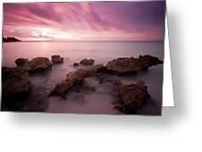 Riviera Maya Sunrise Greeting Card