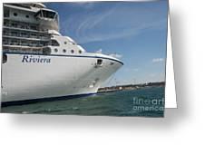 Riviera Ocean Liner Greeting Card