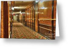 Rms Queen Mary Passenger Hallway Passageway  Greeting Card