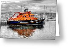 Rnlb 17-28 Brixham Greeting Card